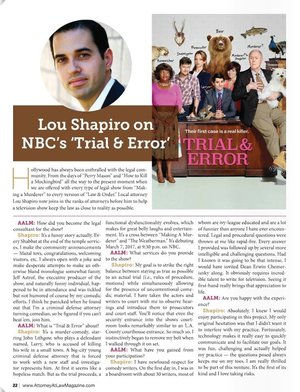 Lou Shapiro on NBC's 'Trial & Error'
