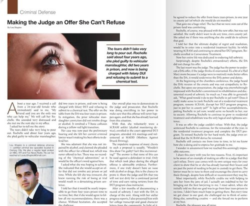 Making the Judge an Offer She Can't Refuse